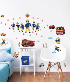 Fireman Sam Wall Sticker Bedroom Scene - 45835