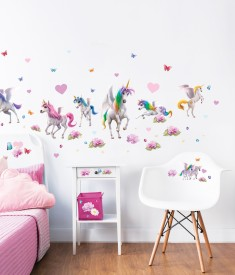 Magical Unicorn Wall Sticker Room Scene -45989