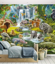 Jungle_12PC Mural_ Roomset 1000px