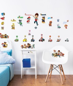 Paw Patrol Wall Stickers Bedroom Scene 1000px - 44685