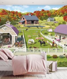HorseandPony_12PC Mural_ Roomset 1000px