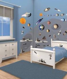 Space Adventure Bedroom Decor Kit