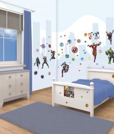 Marvel Avengers room decor sticker kit for kids & children's bedroom, Wall Decals