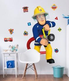 Fireman Sam Life Size XL Wall Sticker room decal
