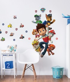 Paw Patrol Large Character Sticker Bedroom Scene Web - 44623