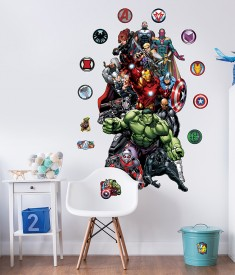 Avengers Large Character Stickers Bedroom Scene 45491