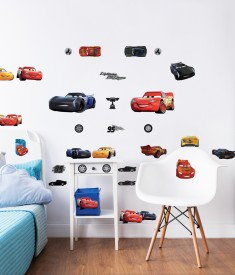 Disney Cars Wall Sticker Bedroom Scene 45576