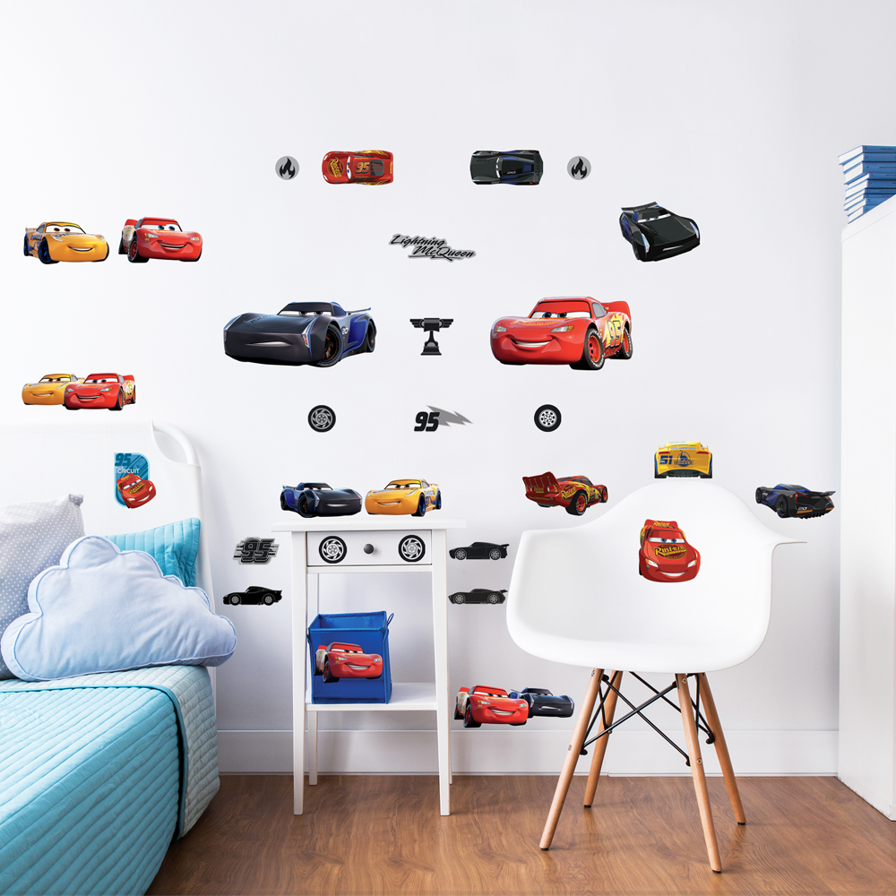 Disney Cars 3 Wall Removable Wall Stickers Walltastic