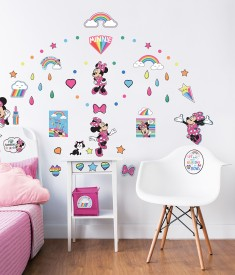 Minnie Mouse Wall Sticker Bedroom Scene 45538