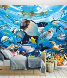 Sea Adventure Wall Mural Bedroom Scene 45279