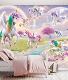 Unicorn_12PC Mural_ Roomset 1000px